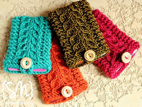 Scarf Knitted Patterns : Gift Card Holders to Knit and Crochet   free patterns   Grandmothers Pat...