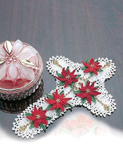 Christmas Poinsettias to Crochet ? free patterns ...