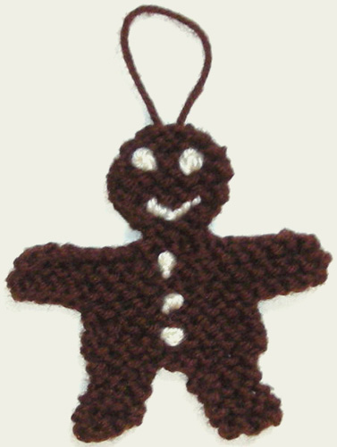 Gingerbread Man Knitting Pattern : Gingerbread to Knit   free patterns   Grandmothers Pattern Book