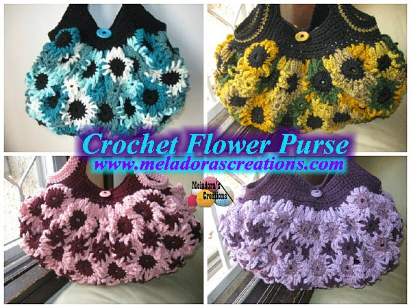 A Flower Garden Of Purses Bags And Totes To Crochet For