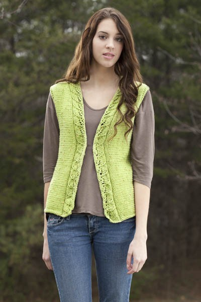 Knitting Pattern For Waistcoat Free : More Pretty Vests to Knit for Spring   sizes small to 3x   free patterns   Gr...