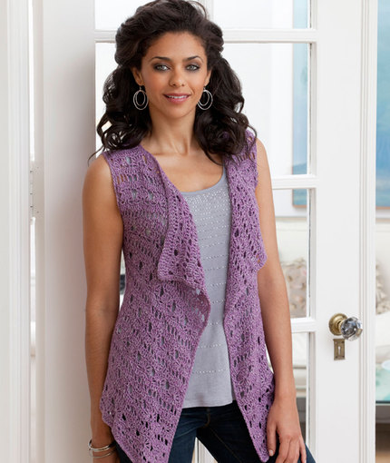 Free Crochet Cotton Vest Pattern : Pretty Vests to Crochet for Spring ? Grandmothers Pattern ...