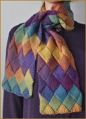 Knitting Pattern For Entrelac Shawl : Entrelac Knitting   try something new and beautiful!   free patterns   Grandm...