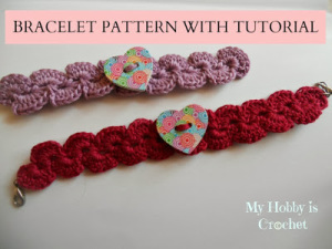 crochet-bracelet-heart-button