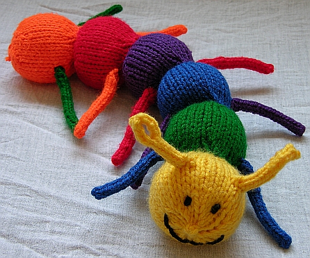 Knitting Pattern Butterfly Toy : So Many Bugs to Knit!   free patterns   Grandmothers Pattern Book