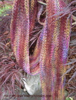 Spring and Summer Scarves to Knit   free patterns   Grandmothers Pattern...