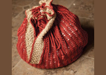 Knitting Pattern For Book Bag : Knit Beach Bags   free patterns   Grandmothers Pattern Book