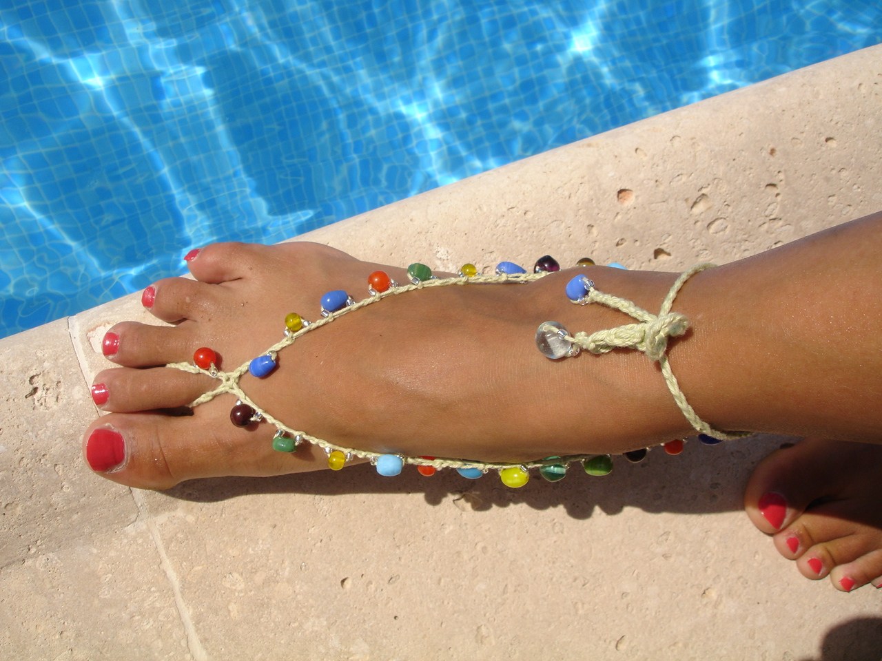 Barefoot Sandals And Foot Adornments To Crochet Free Patterns
