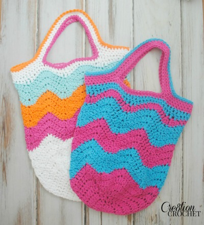 Beach Bags to Crochet – free patterns – Grandmother's Pattern Book