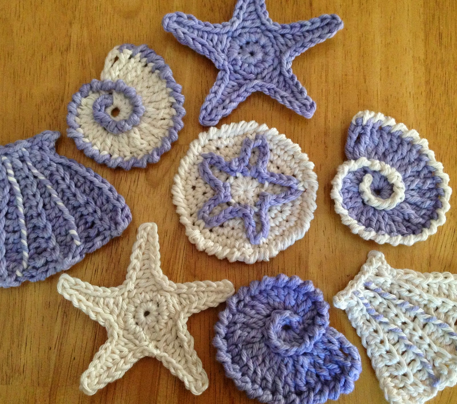 Seashell Knitting Pattern : Crochet Seashells   free patterns   Grandmothers Pattern Book