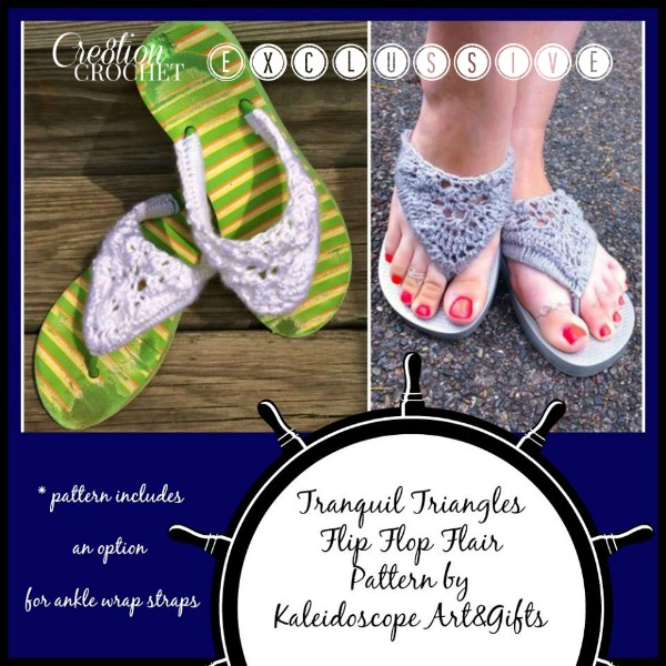 Flip Flops and Sandals to Crochet – free patterns – Grandmother\'s ...