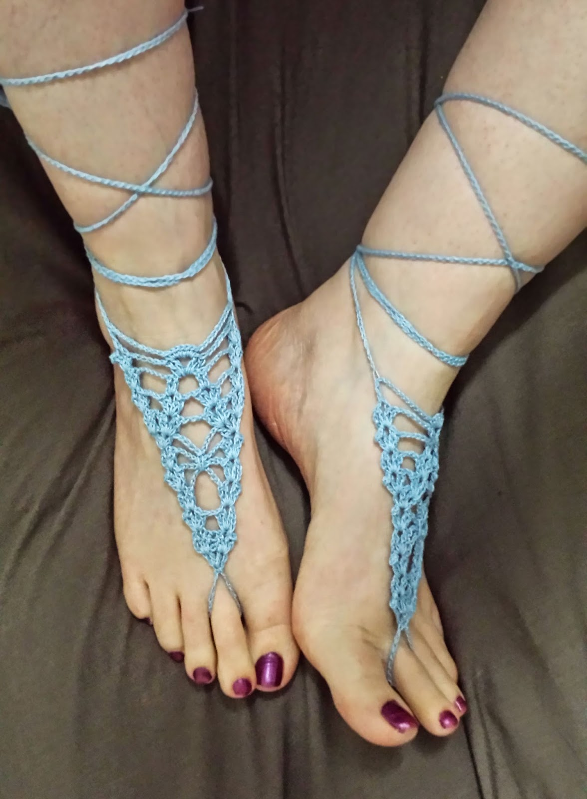 Barefoot Sandals And Foot Adornments To Crochet Free