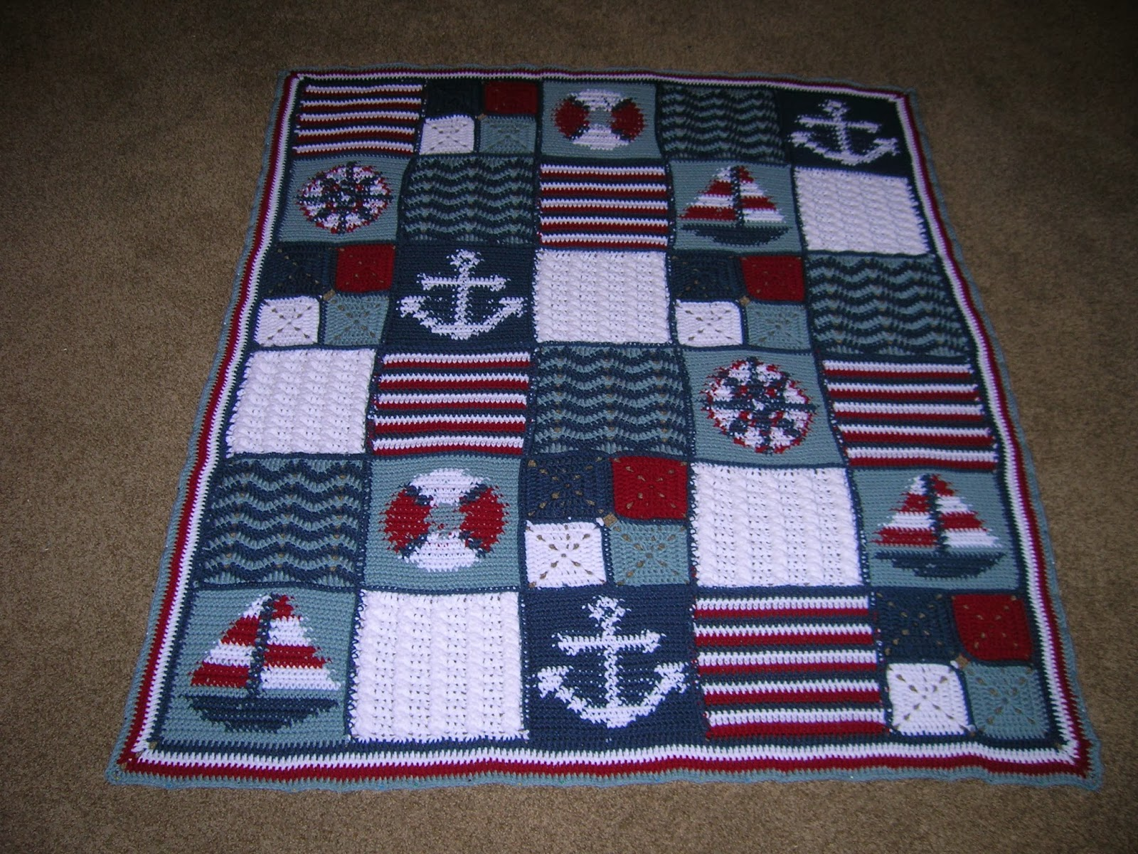 Crochet Patterns Nautical : Nautical Crochet - free patterns - Grandmothers Pattern Book