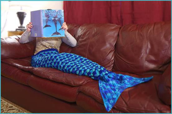 Free Knitting Pattern For Child s Mermaid Blanket : Reader Request   Knit and Crochet Mermaids   free patterns   Grandmother...