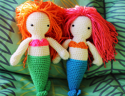 reader request � knit and crochet mermaids � free patterns
