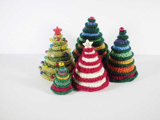 More Christmas Trees / Pine Trees to Crochet – free patterns