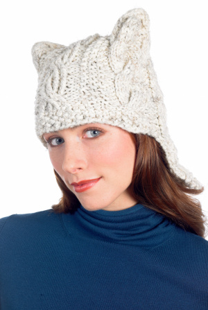 Cat Hats for People! free patterns to knit - Grandmother's ...