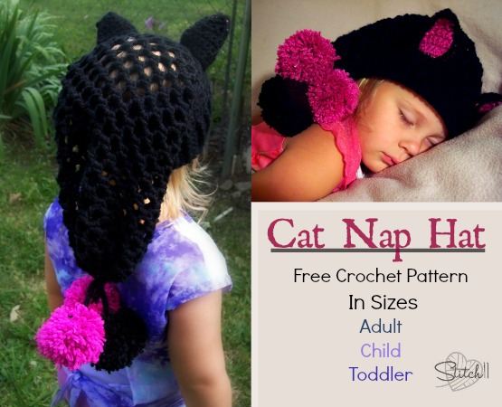 Crochet Pattern For A Hat For A Cat : Cat Hats for People! free patterns to crochet ...