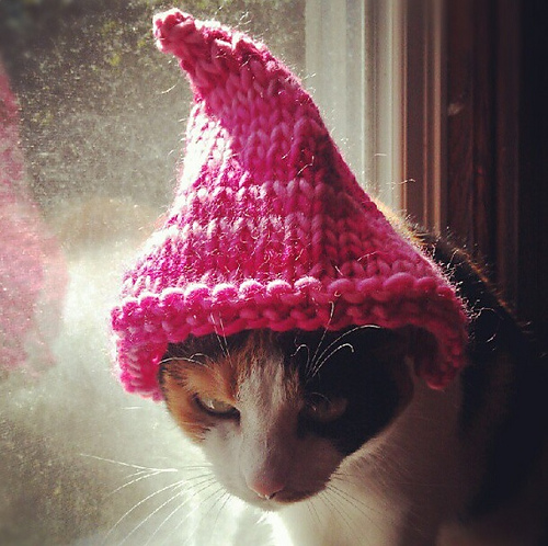 Gnome Hat Knitting Pattern Free : Knit a Christmas Sweater, Hat, Collar or Scarf for Your ...