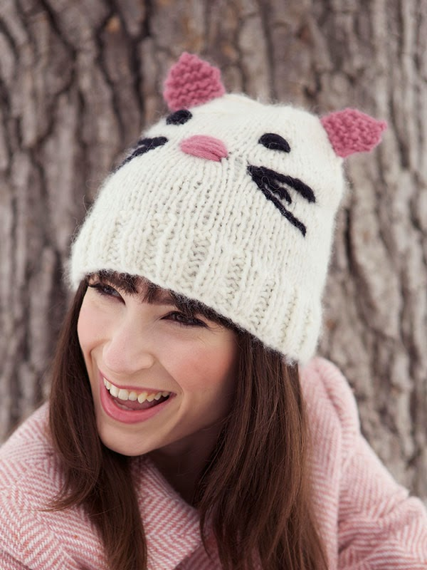 Knitting Pattern For Cat Hat : Cat Hats for People! free patterns to knit   Grandmothers Pattern Book