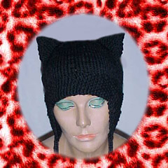 Cat Hats for People! free patterns to knit – Grandmother s Pattern Book baa22e80609