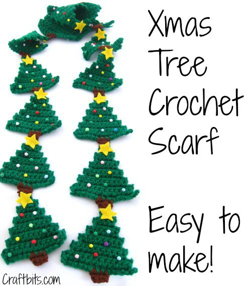 xmas tree scarf crochet