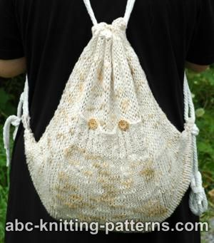 Knitting Pattern For Book Bag : Back to School   Backpacks to Knit   26 free patterns   Grandmothers Pat...