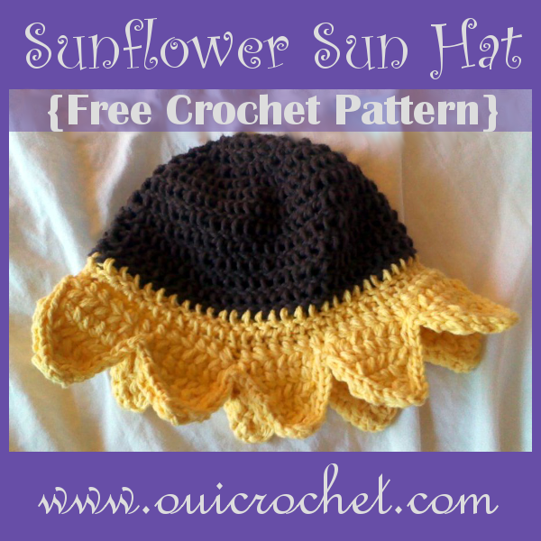 Sunflower Crochet Baby Hat Pattern : More Sunflowers to Crochet ? 24 free patterns ...
