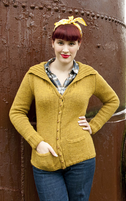 Free Knitting Pattern Zippered Cardigan : Cozy Cardigans and Jackets to Knit for Fall   free patterns from Knitty   Gra...