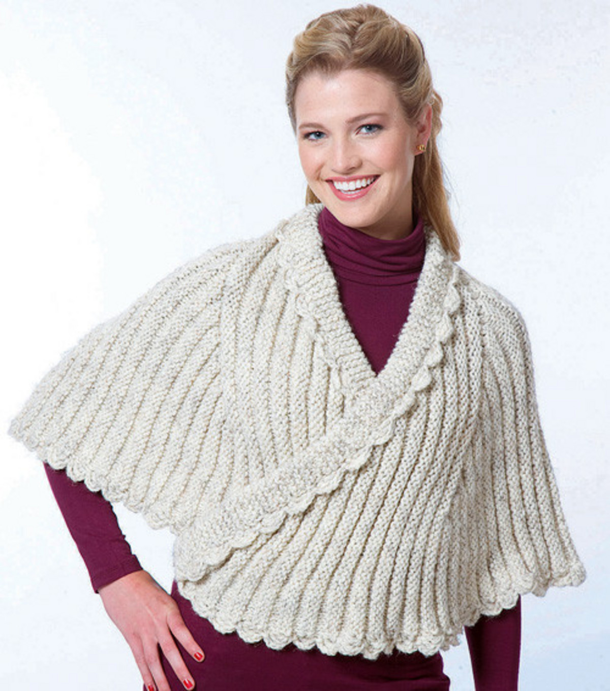 Knitting Patterns For Capes : More Capes to Knit   13 free patterns   Grandmothers Pattern Book