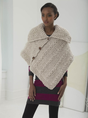 Free Knitting Patterns Capes : Lovely Capes to Knit   21 free patterns   Grandmothers Pattern Book