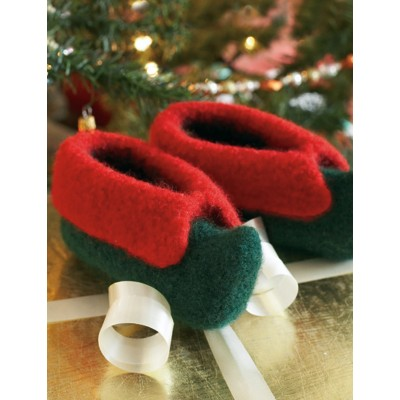 Knitting Pattern For Christmas Slippers : Fun! Christmas Slippers to Knit for Adults and Children   20 free patterns   ...