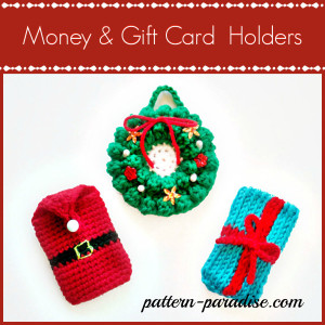 More Knit or Crochet Gift Card Holders – free patterns ...