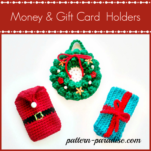 More Knit or Crochet Gift Card Holders ? free patterns ...