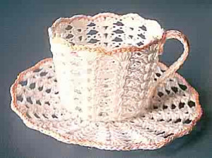 shell cup and saucer