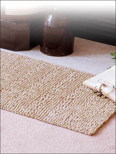 Free Knitted Placemat Patterns : Knit a Rug to Warm Your Floor   20 free patterns   Grandmothers Pattern ...
