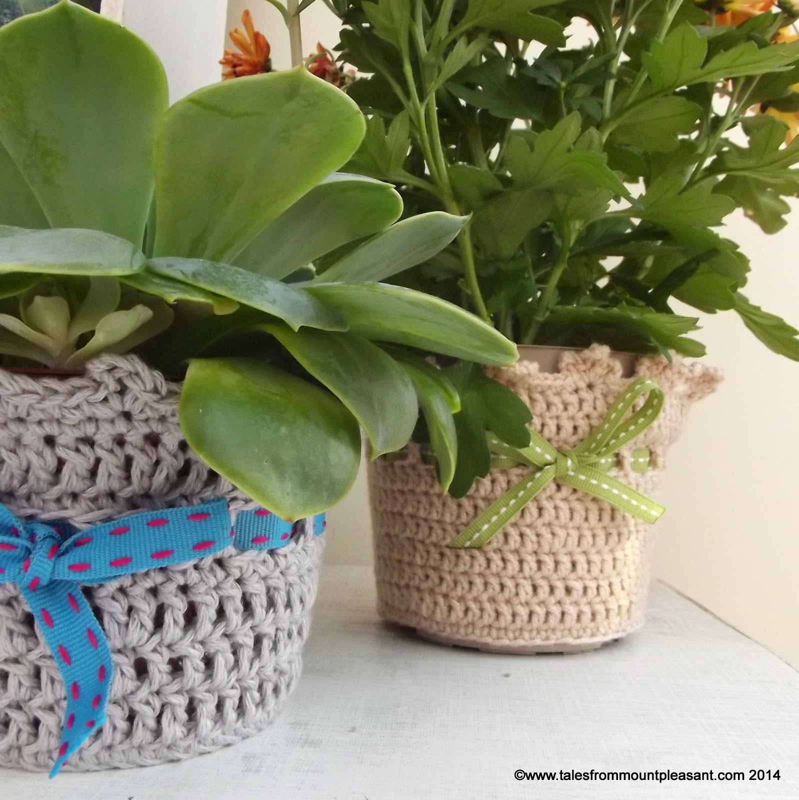 Crochet a Slipcover for Your Potted Plants – 17 free patterns ...