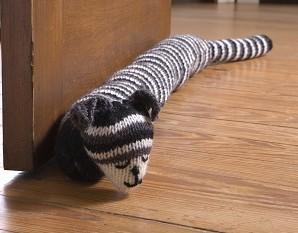 Knit Draft Stoppers/Draught Excluders – 11 free patterns