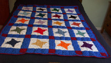 Crochet a Quilt - 33 free patterns - Grandmothers Pattern Book