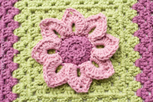 Water Lily Afghan Square Crochet Pattern 4