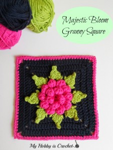 majestic dahlia bloom granny square