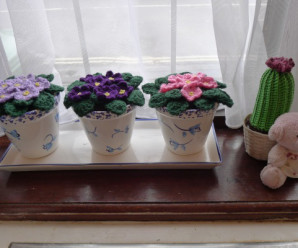 Violets and Pansies to Crochet – 16 free patterns