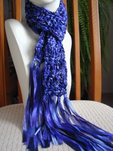 Crochet Scarf Patterns Ribbon Yarn : Crochet with Ribbon Yarn ? 16 free patterns ? Grandmother ...