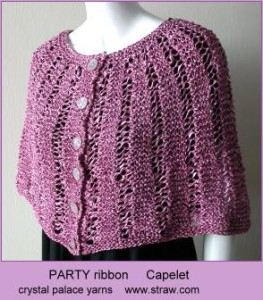 Free Knitted Capelet Patterns : More Knitting with Ribbon Yarn   21 free patterns   Grandmothers Pattern...