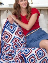 Patriotic Crochet – Red, White and Blue – 55 free patterns from Grandmother's Archives