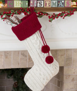 Knitted Christmas Stocking Patterns For Beginning : Christmas Stockings to Knit   from Elegant to Whimsical ...
