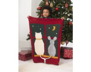 Knit-Pattern-Cat-And-Mouse-Blanket-L40454