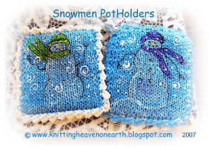 Snowmen Pot Holders