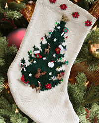 25 More Christmas Stockings to Knit – free patterns