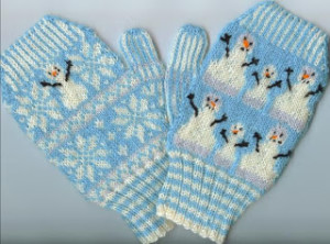 Knitting Pattern For Snowman Mittens : More Snowmen to Knit   22 free patterns   Grandmothers Pattern Book